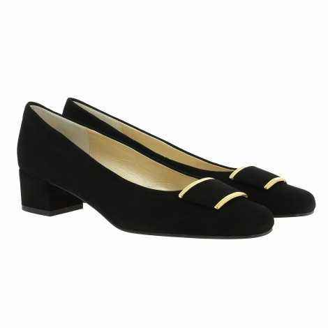 Black Suede Heel Shoes