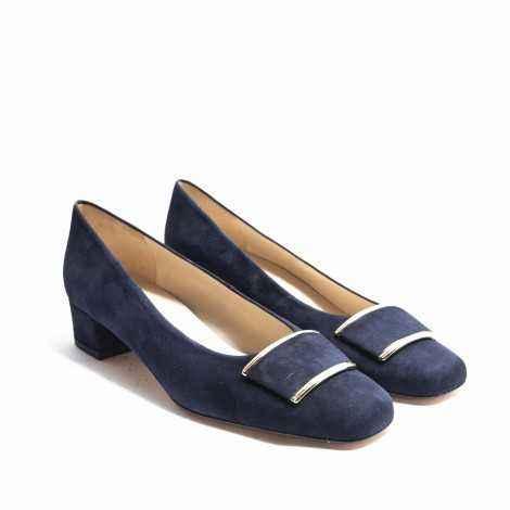 Blue Suede Heel Shoes