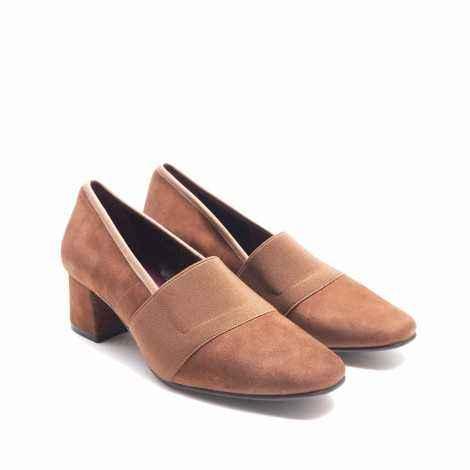 Zapato Elástico Ante Cuero