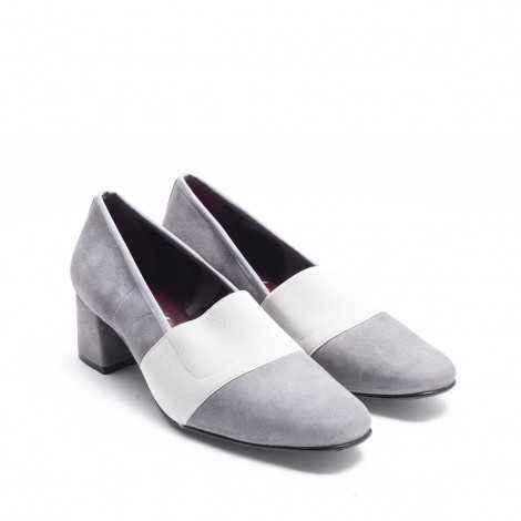Zapato Elástico Ante Gris