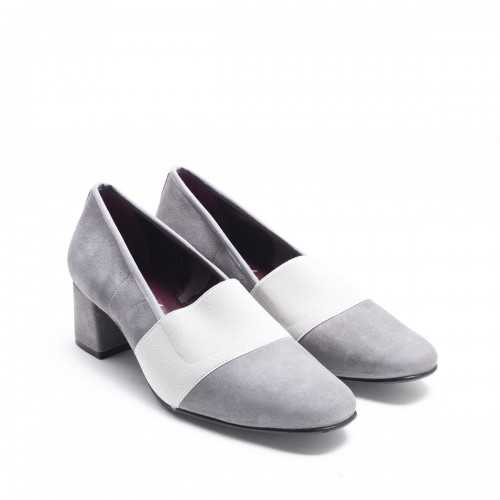 Grey Suede Elastic Shoe