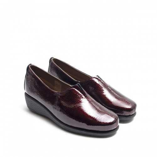 Zapato Burdeos Elástico Empeine