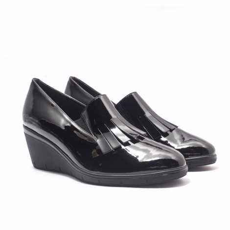Patent Leather Fringes Loafer
