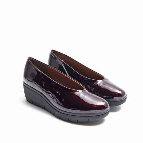 Burgundy Patent Shoes