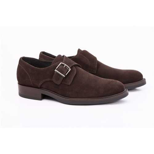 Suede Coffee Monk Shoe