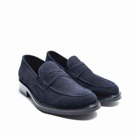Blue Suede Loafer