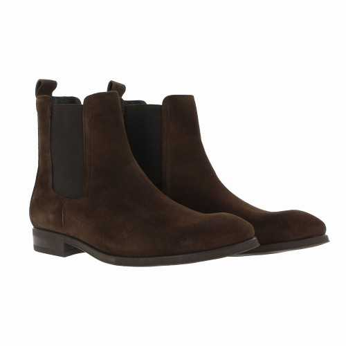 Suede Derby Ankle Boots