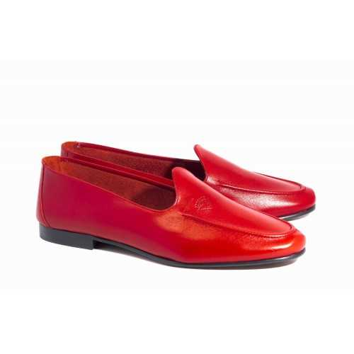 Red Leather Loafer