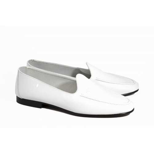 White Leather Loafer