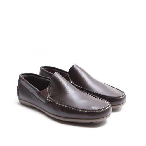 Brown Plain Loafer