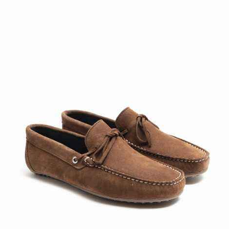 Tan Suede Lace-ups loafer