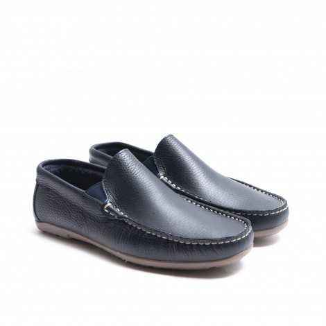 Plain Blue Loafer