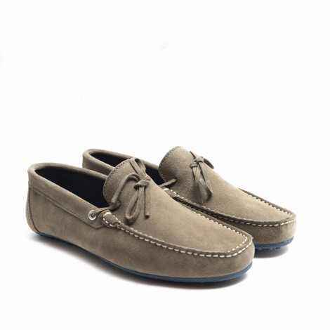 Taupe Lace-ups Loafer