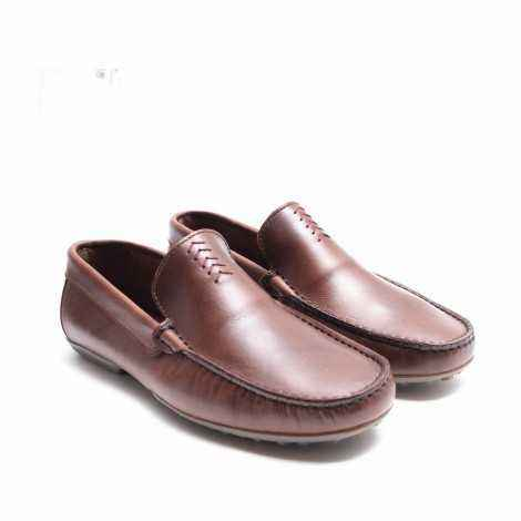 Brown Plain Loafer