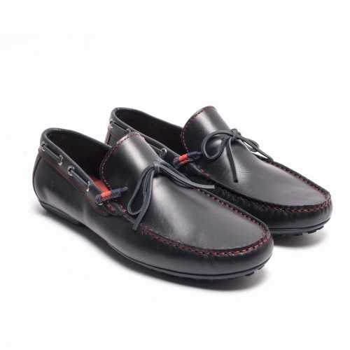 Lace Leather Loafer