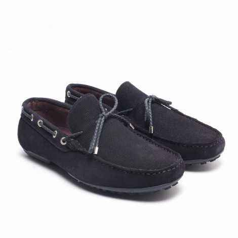 Lace Suede Loafer