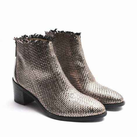Braided Ankle Boots