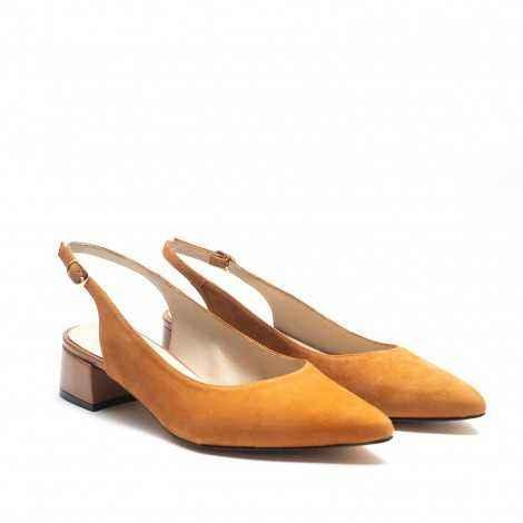 Open-Heeled Tan Shoes
