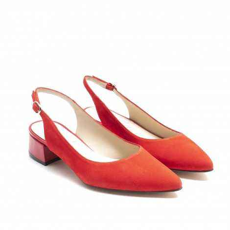 Open-Heeled Red Shoes
