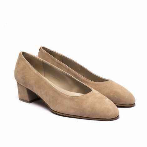 Salón Ante Marrón - vista1Salón Ante Marrón - vista2 Brown Suede Heel Shoes Sal