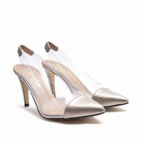 Vynil Champagne Heel Shoe