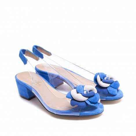 Vinyl Flower Heel Shoes