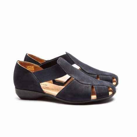 Nobuck Flat Sandals