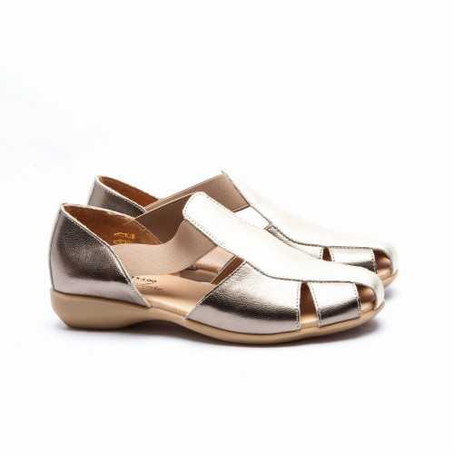 Sandalia Elásticos Oro