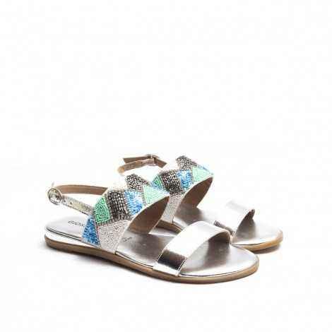 Silver Ethnic Sandal