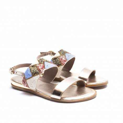 Gold Ethnic Sandal