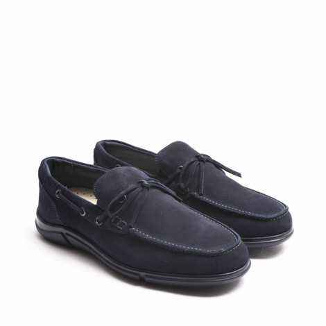 Blue Lace-ups Loafer