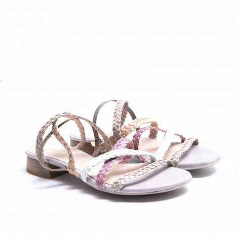 Braided Multicolour Strips Sandal
