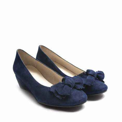 Blue Bond Wedge heels
