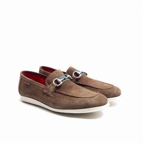Suede Band and Strirrup Loafer