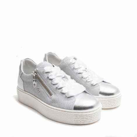Grey Leather Sneaker